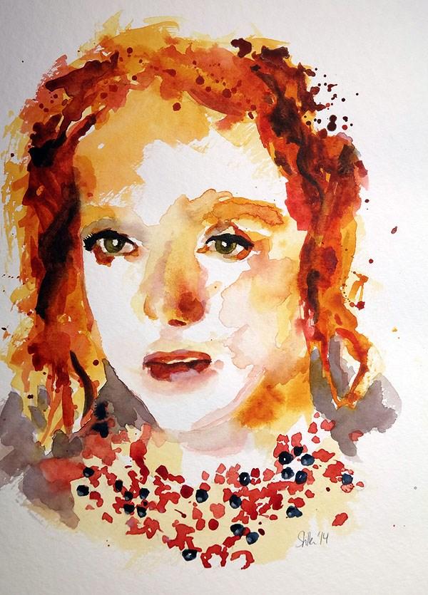 """1212 Lovely Red"" original fine art by Dietmar Stiller"