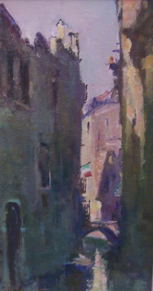 """Venice Canal 1"" original fine art by John Shave"