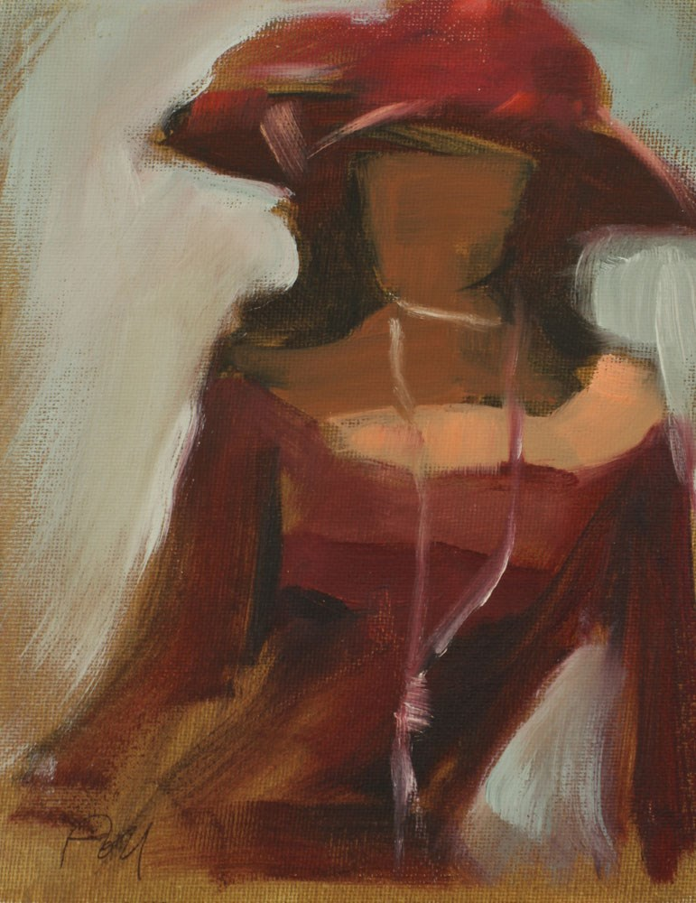 """Figure With Hat"" original fine art by Pamela Poll"