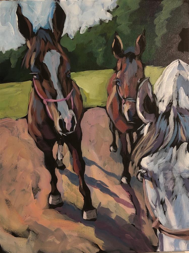 """Follow the Leader"" original fine art by Kat Corrigan"