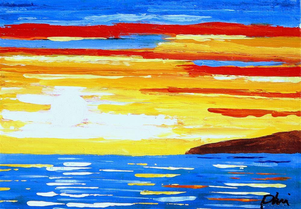 """MORNING SUN"" original fine art by Bob Phillips"