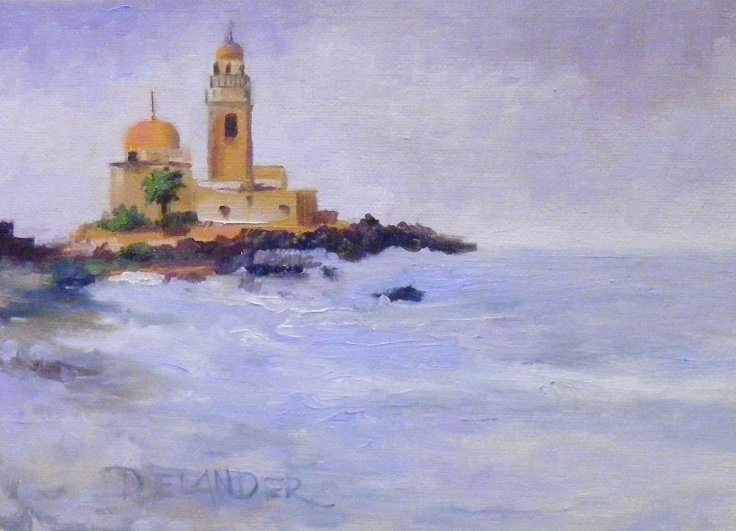 """Golden Domes and Blue Waters"" original fine art by Diana Delander"