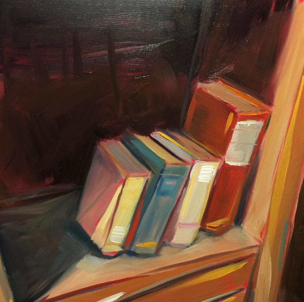 """0463: Old Books"" original fine art by Brian Miller"