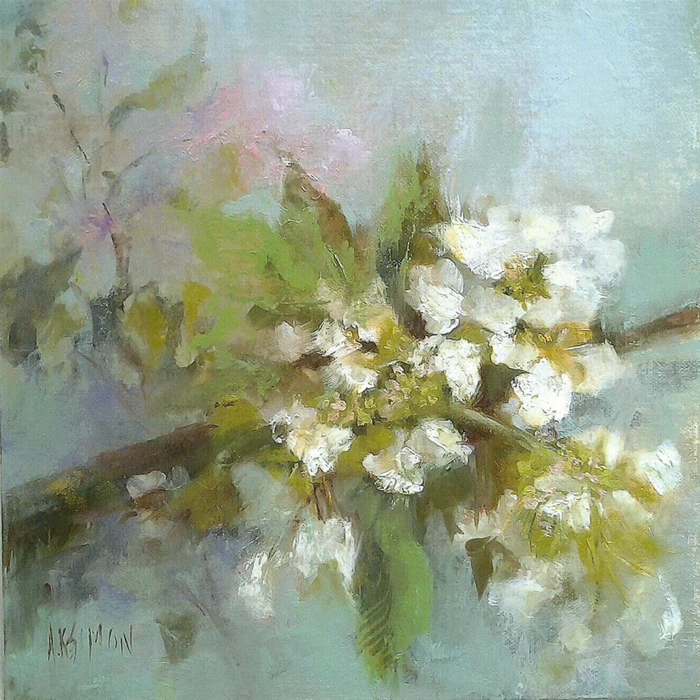 """""""The Viburnum Over By The Lilac"""" original fine art by A.K. Simon"""