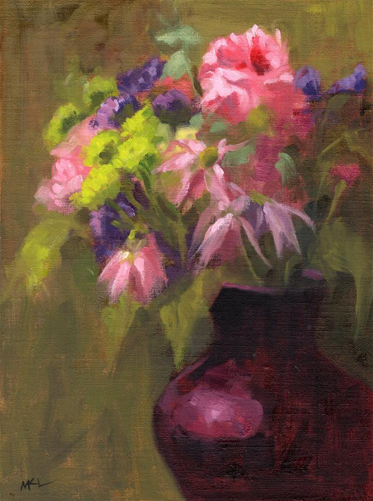 """A Bouquet of Flowers"" original fine art by Marlene Lee"