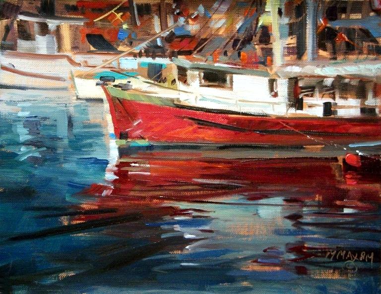 """""""Victoria Harbor"""" original fine art by Mary Maxam"""