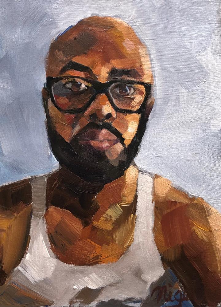 """Self Portrait: Trini's Son"" original fine art by Nigel Williams"