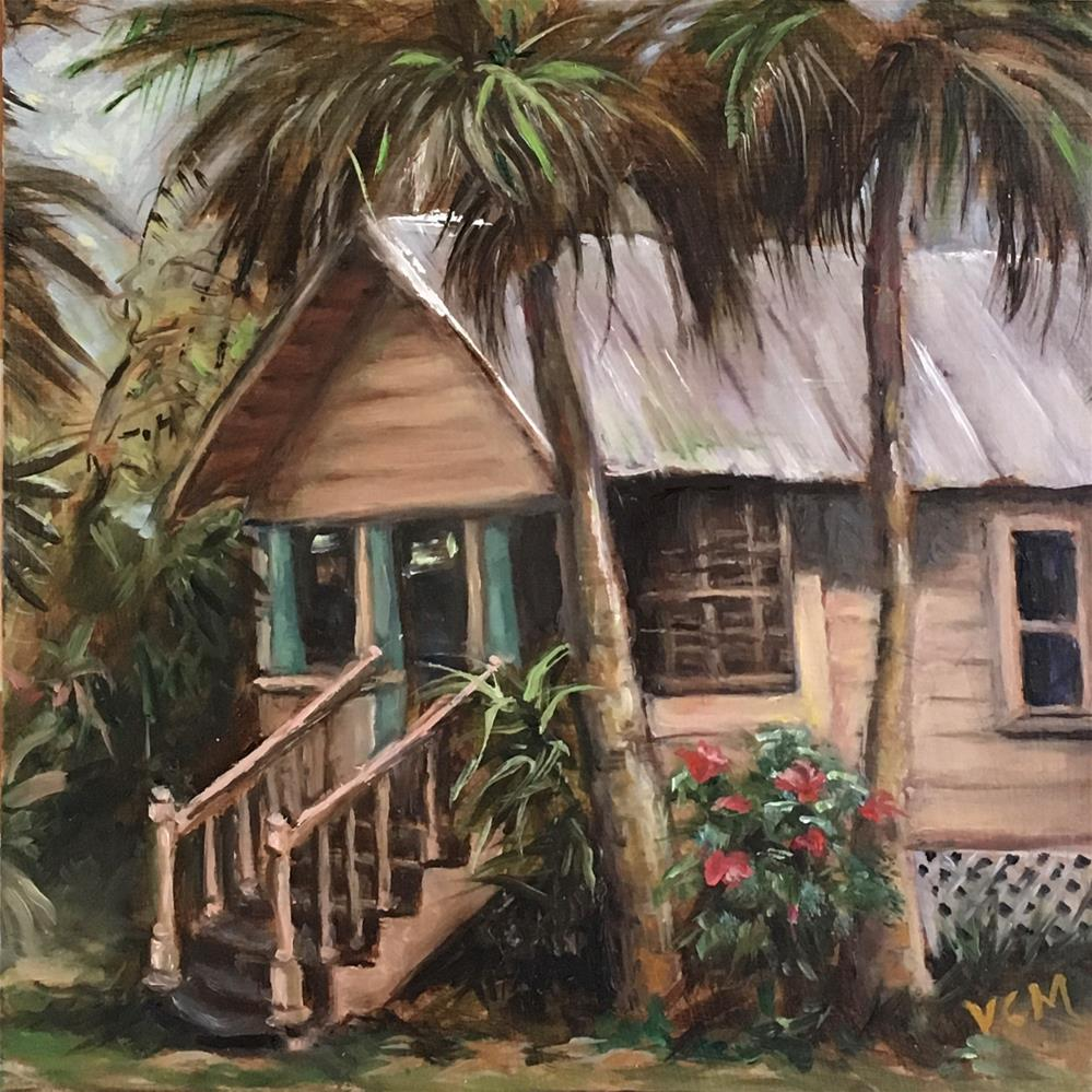 """Little Pink House's Sister"" original fine art by Vana Meyers"