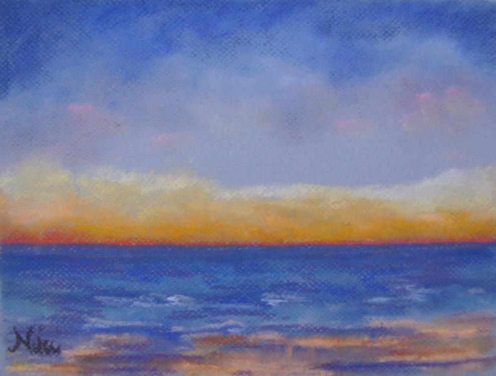 """""""Carlsbad Sunset West"""" original fine art by Niki Hilsabeck"""