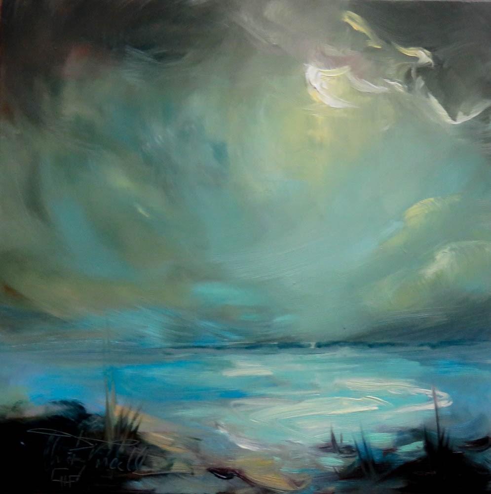 """Full Moon"" original fine art by Christa Friedl"