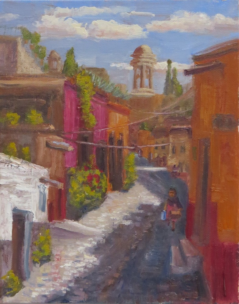 """Going Downhill"" original fine art by Richard Kiehn"
