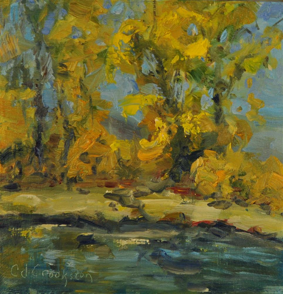 """Cottonwoods"" original fine art by Catherine Crookston"