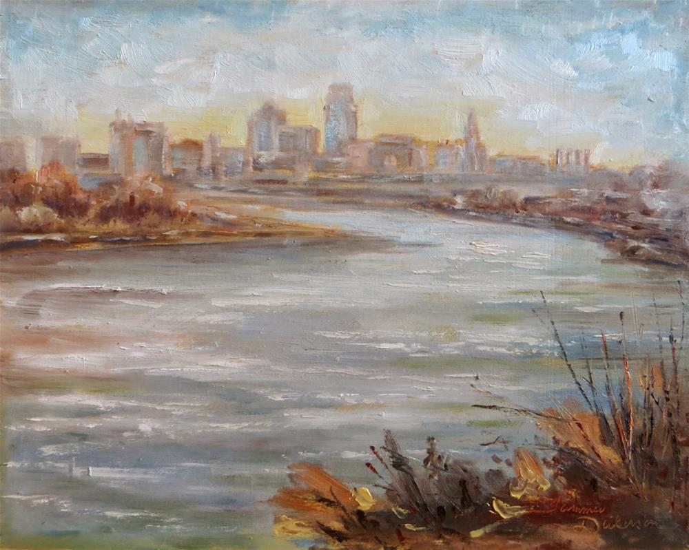 """""""Kansas City from Kaw Point"""" original fine art by Tammie Dickerson"""