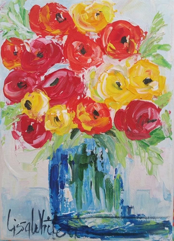 """23 - Dancin' with a Hoe"" original fine art by Lisa Rogers"