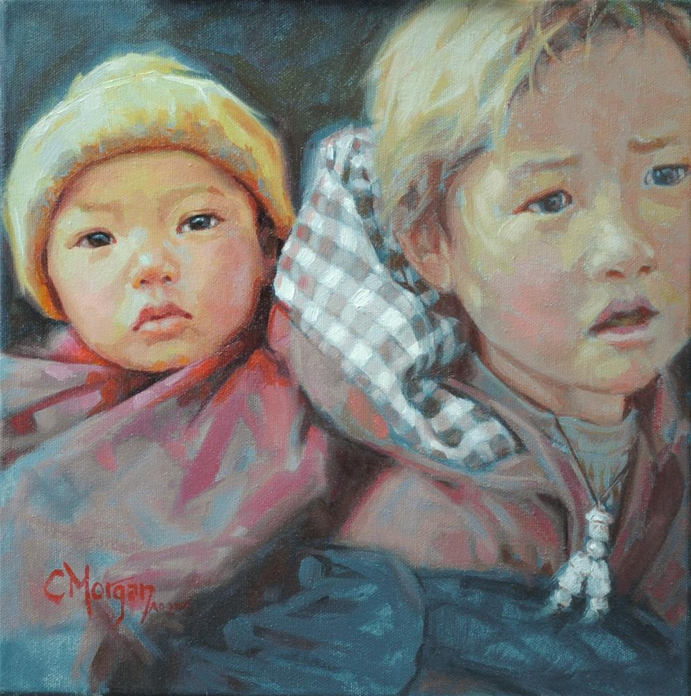 """""""To Such As These: Nosu of China"""" original fine art by Cecile W. Morgan"""