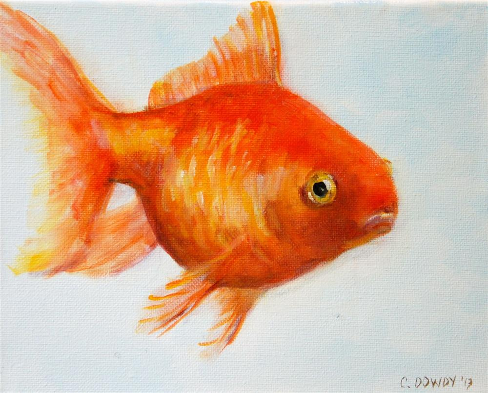 """Funny Face - Grumpy Goldfish Part VI"" original fine art by Christina Dowdy"