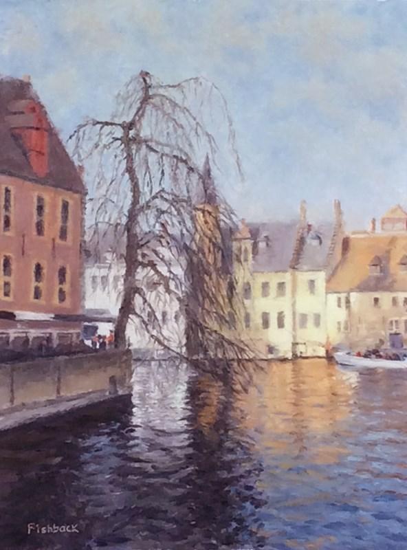 """Brugge Belgium I"" original fine art by Daniel Fishback"