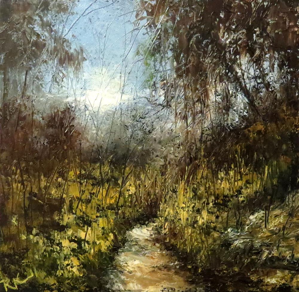 """A Path Through the Wild Woods"" original fine art by Bob Kimball"