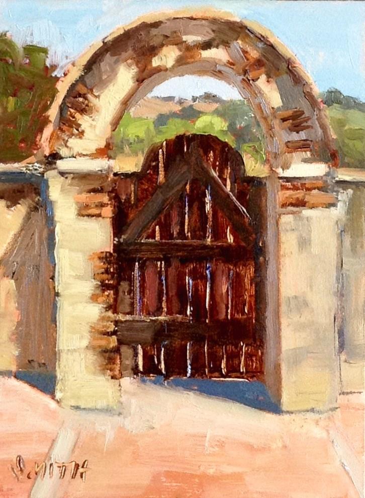 """Mission Gate"" original fine art by Barbie Smith"