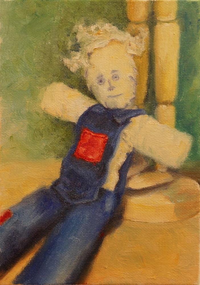 """Farmer Joe Doll"" original fine art by Maria Levandowski"