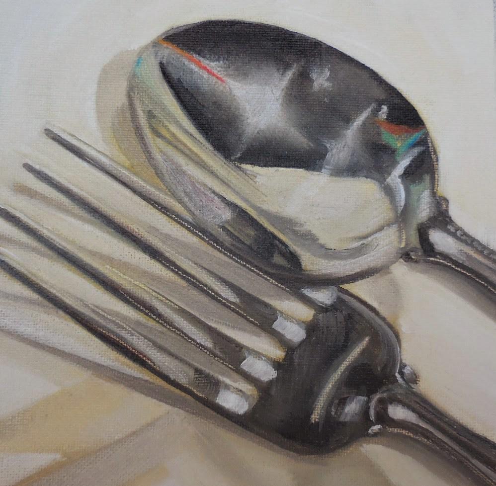 """""""Fork n Spoon"""" original fine art by Beth Moreau"""