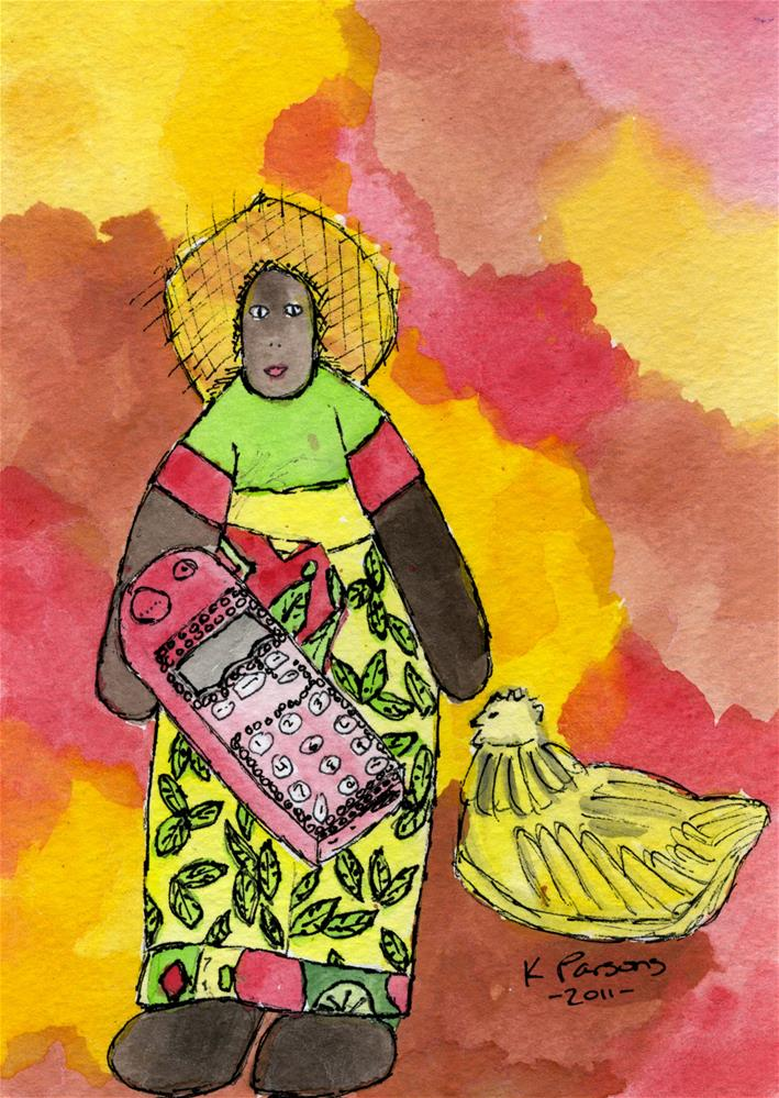 """Al's Grandma"" original fine art by Kali Parsons"