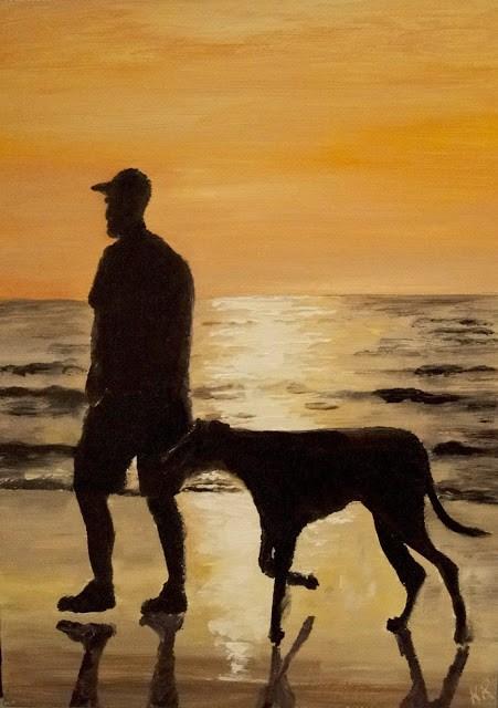 """""""Evening Walk"""" original fine art by Karen Robinson"""