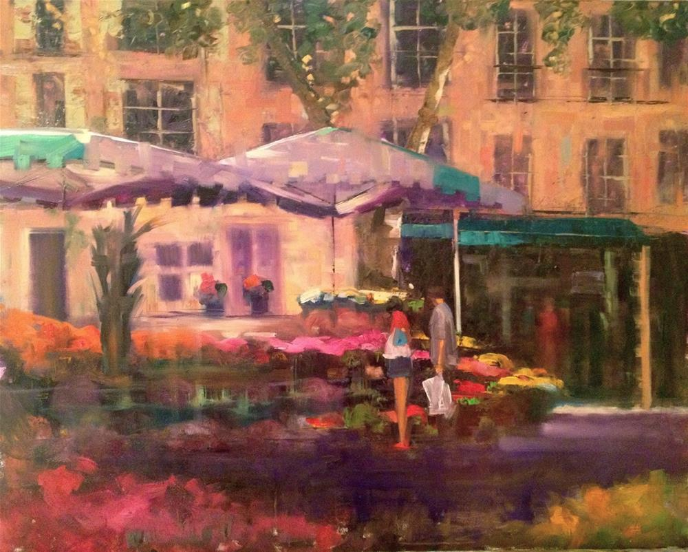 """Sunday Morning, Aix en Provence 20x16"" original fine art by Ann Feldman"