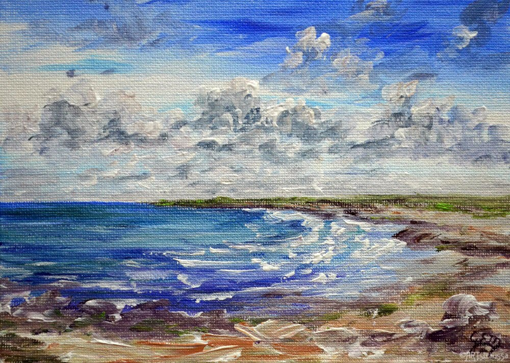 """SALE!!!Isle of Westray"" original fine art by Gloria Ester"