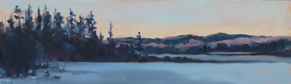 """Marsh in Winter"" original fine art by Jessica Miller"