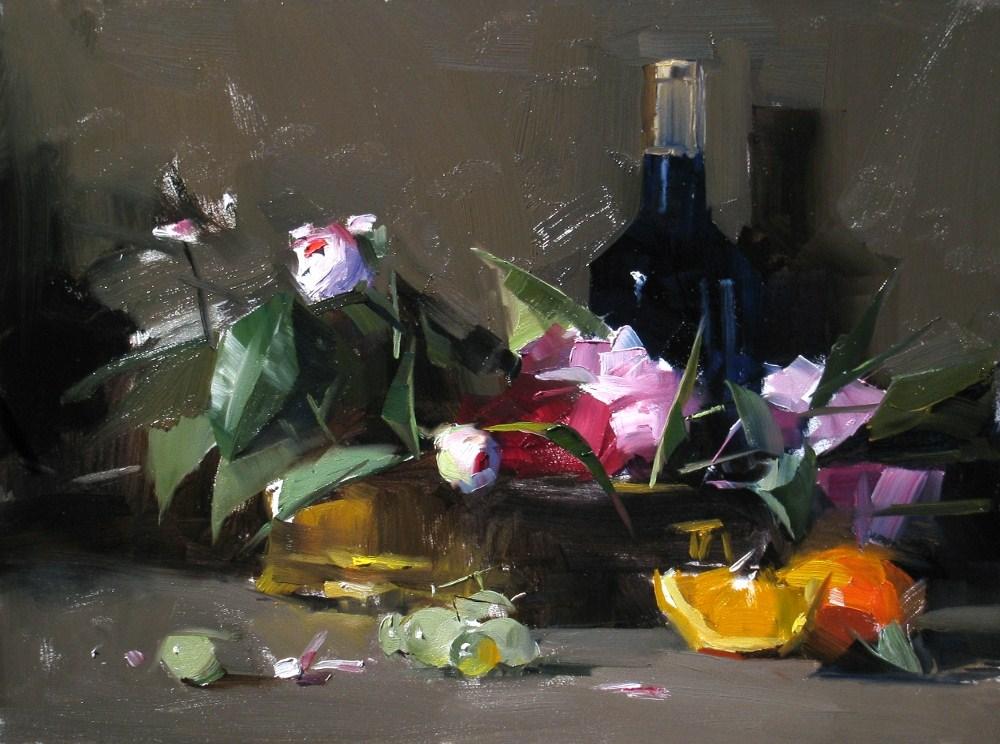 """Flower of Sacramento --- Sold"" original fine art by Qiang Huang"