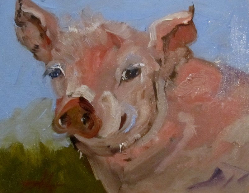 """""""Piggly Wiggly"""" original fine art by Delilah Smith"""