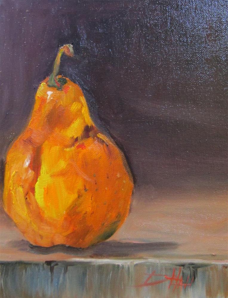 """Pear"" original fine art by Delilah Smith"
