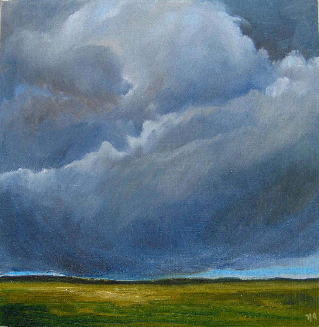 """Little Big Sky"" original fine art by Nicki Ault"