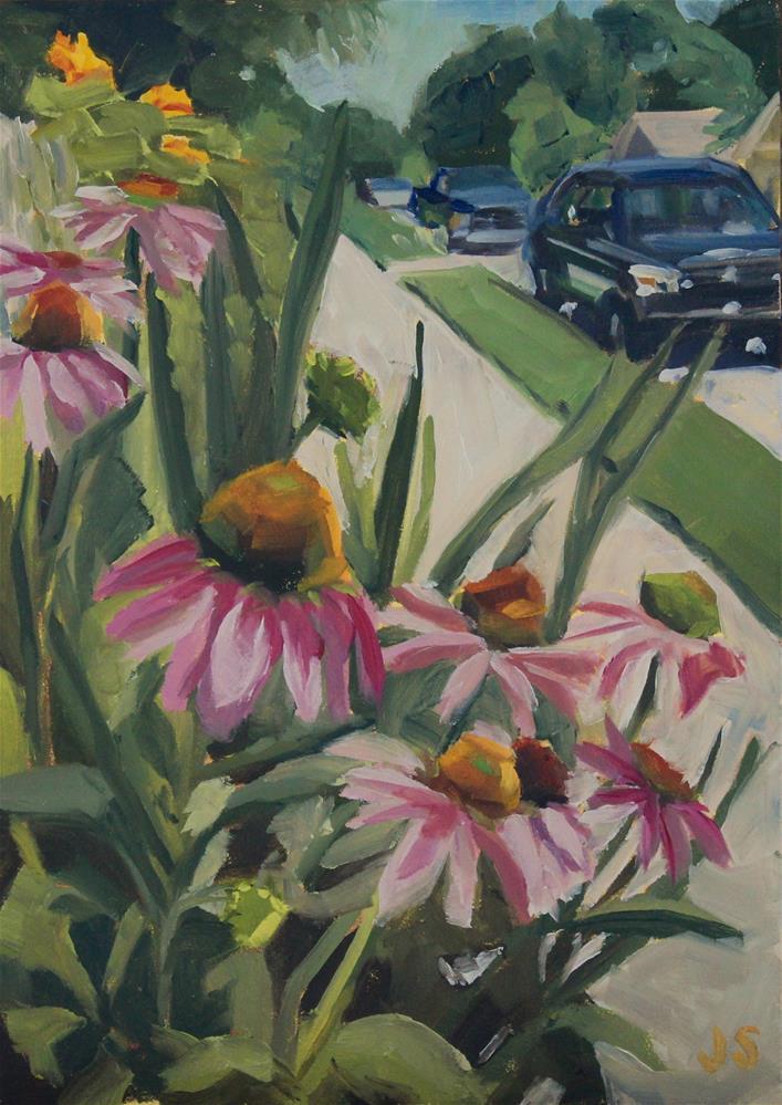 """Cone Flower Street"" original fine art by Jamie Stevens"