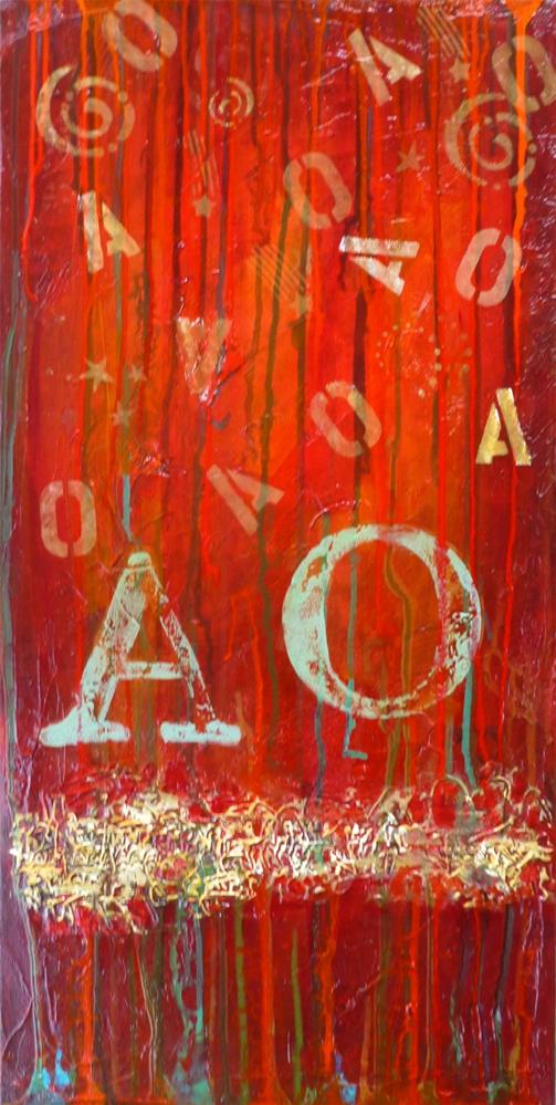 """""""Alpha and Omega 15008 (on hold for a show)"""" original fine art by Nancy Standlee"""