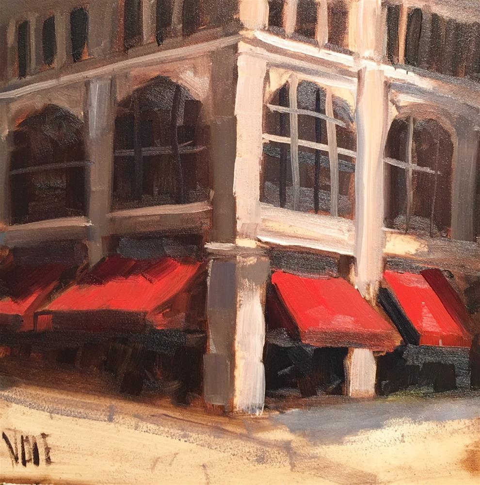 """#305 Corner Shop"" original fine art by Patty Voje"