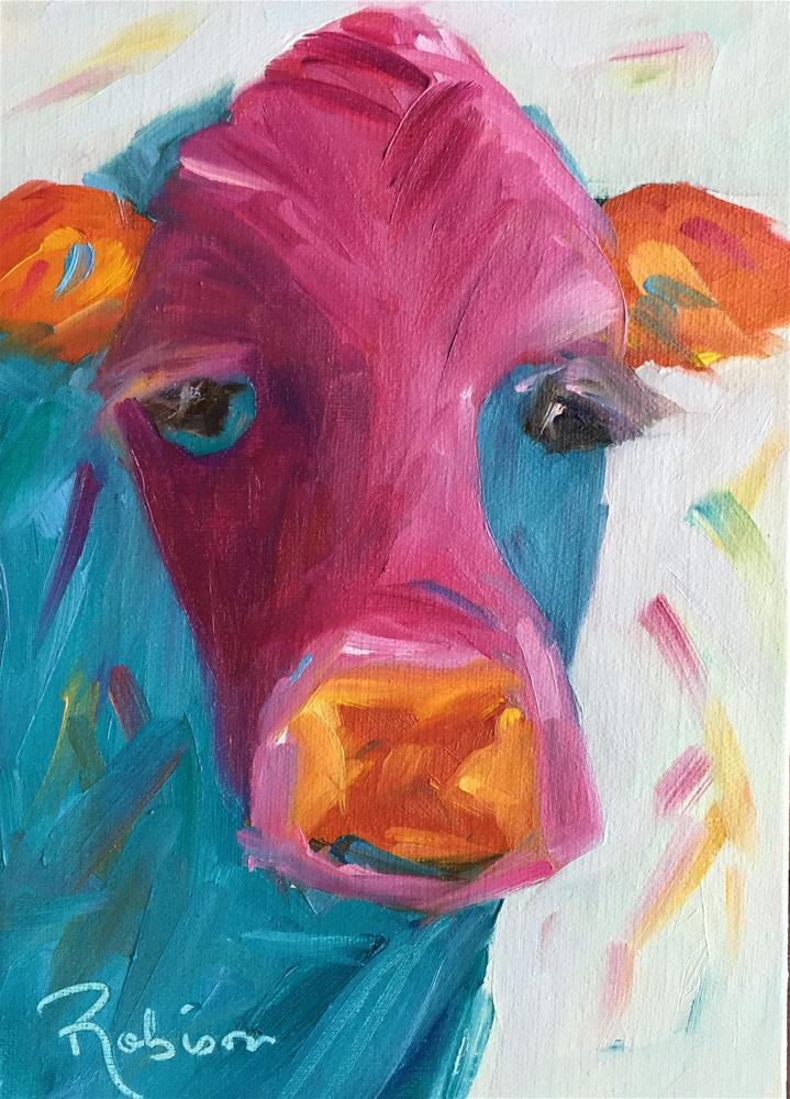 """Eyeful of Color"" original fine art by Renee Robison"