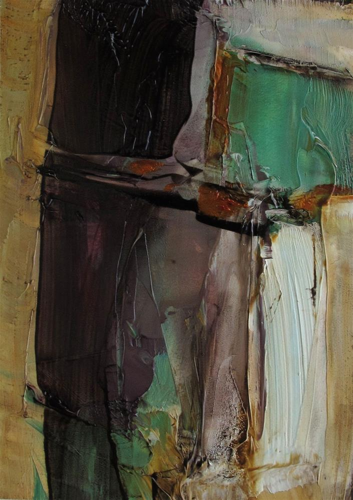 """ACEO Original Oil Painting Art JEWEL OF THE NILE"" original fine art by Colette Davis"