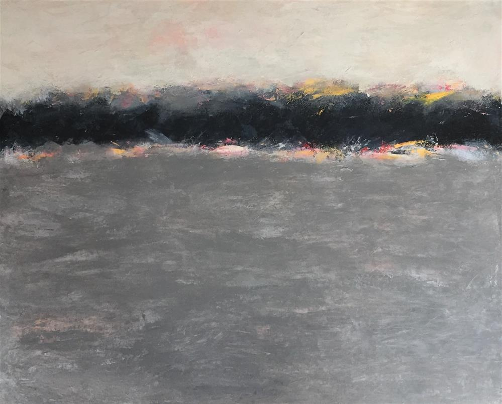 """Cloud bank at Sunrise"" original fine art by Renee Robison"