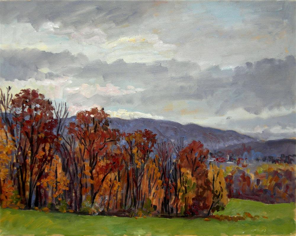 """Rainy Autumn Day, Berkshires"" original fine art by Thor Wickstrom"