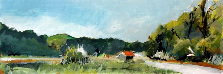 """2463 Acrylic Landscape Sketch IV"" original fine art by Dietmar Stiller"