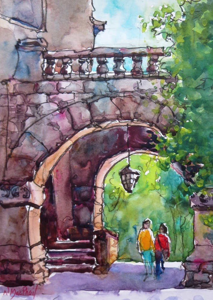 """let's go for a walk"" original fine art by Nora MacPhail"
