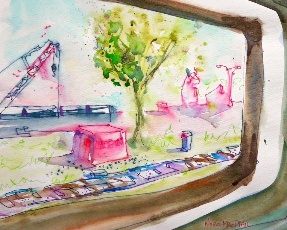 """""""sunlit pass"""" original fine art by Nora MacPhail"""