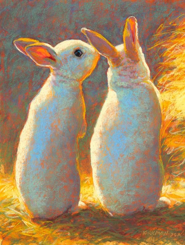 """Bunny Secrets - day 15"" original fine art by Rita Kirkman"