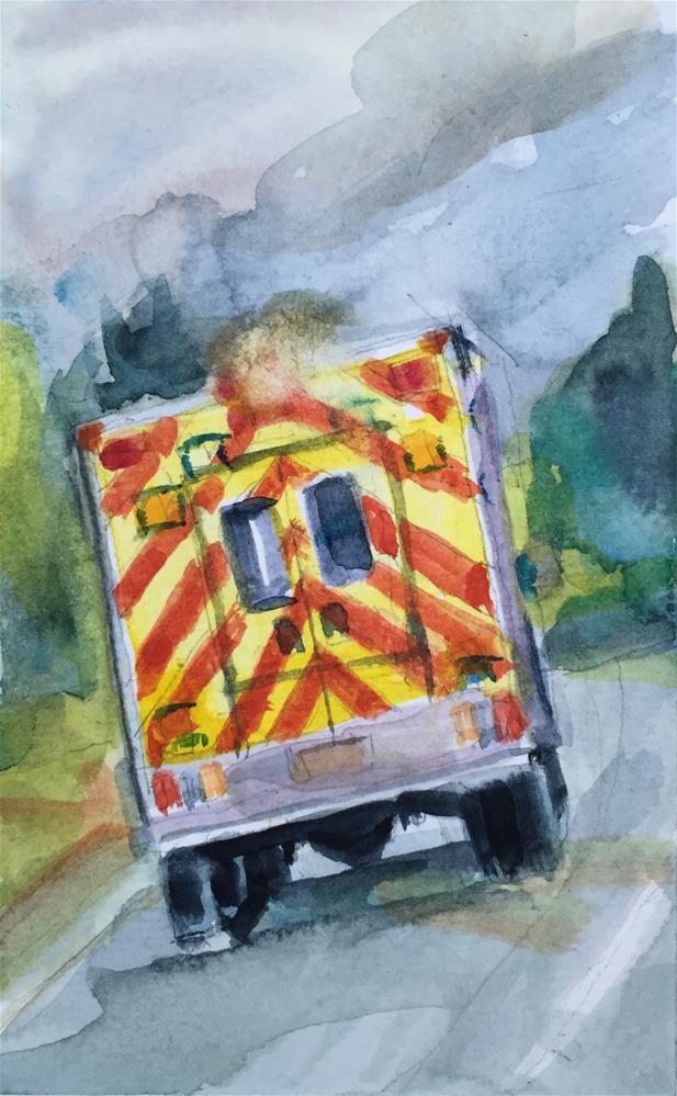 """""""Emergency"""" original fine art by Jean Krueger"""