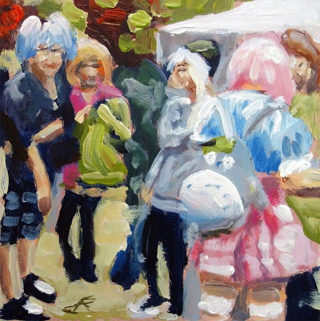 """Anime Girls"" original fine art by J. Farnsworth"