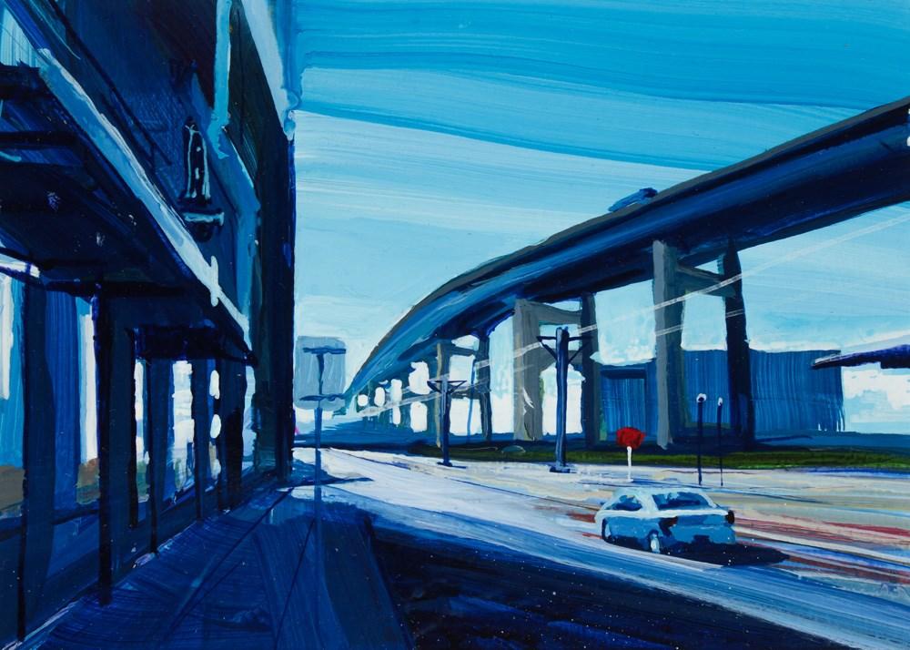 """""""View of the Skyway """" original fine art by Chris Breier"""