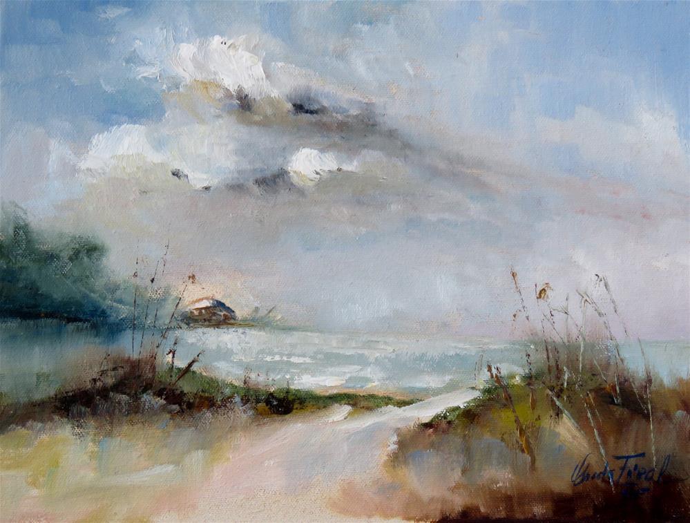 """Approaching Clouds"" original fine art by Christa Friedl"