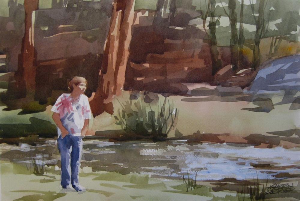 """Watercolor Demo"" original fine art by Karen Werner"